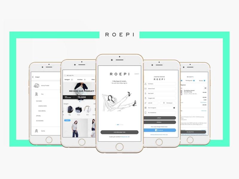 Roepi Apps Ui Design ecommerce app design appdesign ui ux design uiux ui
