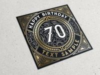 70 - Birth card