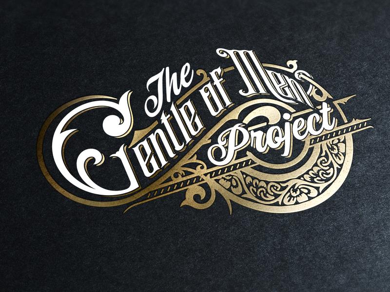 vintage logo logo caligraphy tattoo ornaments swirls gentlemen border retro foil vintage gold