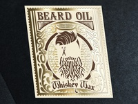 Beard oil label