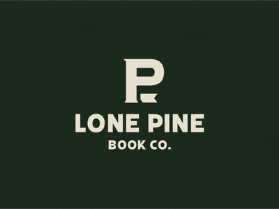 Lone Pine Book Co. monogram book outdoor logo pine outdoors vanlife vintage illustration logo minimalism brand layout typography branding design