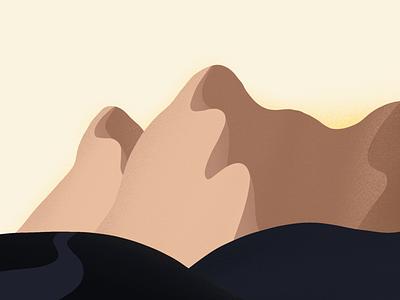 Icelandic Mountains minimalism textures design iceland mountains outdoors illustration landscape design landscape