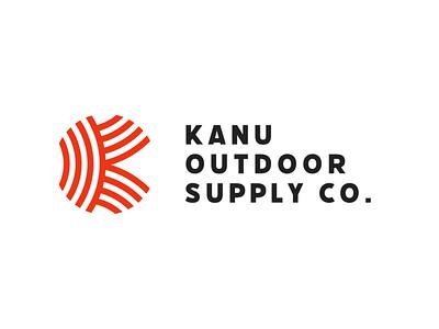 Kanu Full Logo red flow nature outdoor badge outdoors heritage logo brand minimalism layout typography branding design
