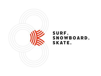 The Kanu Rings logo brand mark brand identity brand design skateboarding logo branding snowboard surf skate logo brand minimalism layout typography branding design