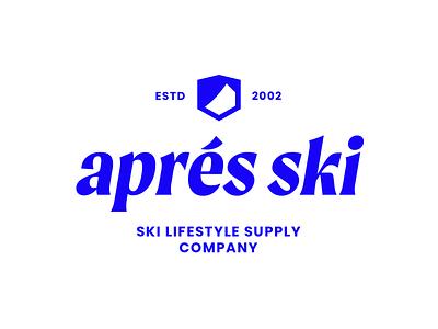 Aprés Ski — Full Logo mountain life comfort minimalism design layout brand typography branding lifestyle modern mountains ski logo ski logo