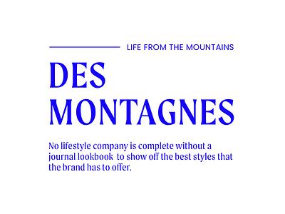 The Journal mountains ski modern type minimalism brand typography