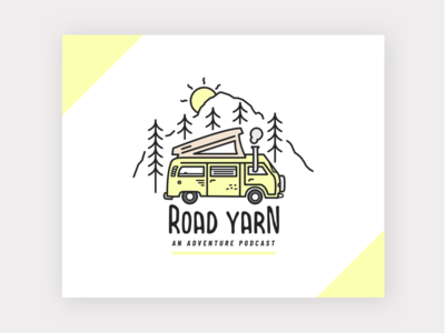 Road Yarn Podcast vanlife linedrawing layout logo design