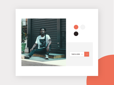 Trend Shop Brand Book ui moodboard red clothing brand color layout design