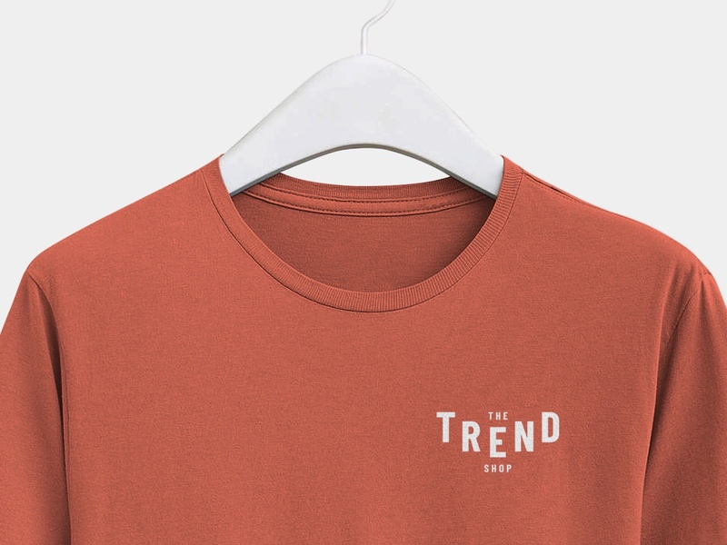 Trend Shop T-Shirt Design layout love brand clothing design clothing brand minimalism typography branding design