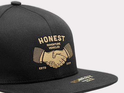 Honest ~ Snapback Design family heritage vintage snapback hat logo vector illustration minimalism typography branding design