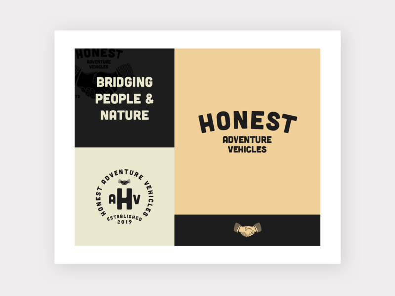 Honest Logo Inspiration Board illustration vanlife community handshake trust family heritage vintage vintage logo brand icon vector logo minimalism layout typography branding design