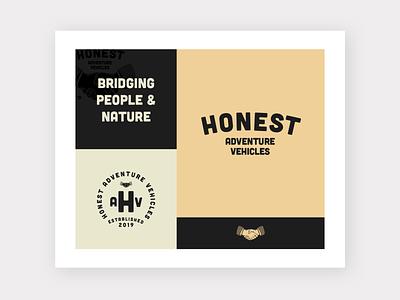Honest Logo Inspiration Board illustration vanlife community handshake trust family heritage vintage vintage logo brand icon vector logo minimalism layout typography branding design