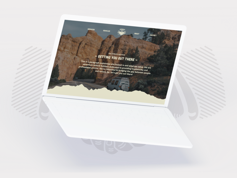 Honest ~ Website Design illustration heritage app design adventure logo web vintage vanlife brand minimalism layout ux design web design typography branding design