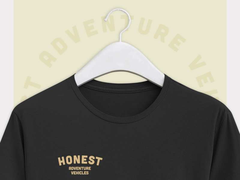 Honest ~ Shirt Design minimal vintage design vintage heritage vanlife icon vector illustration logo brand typography branding design