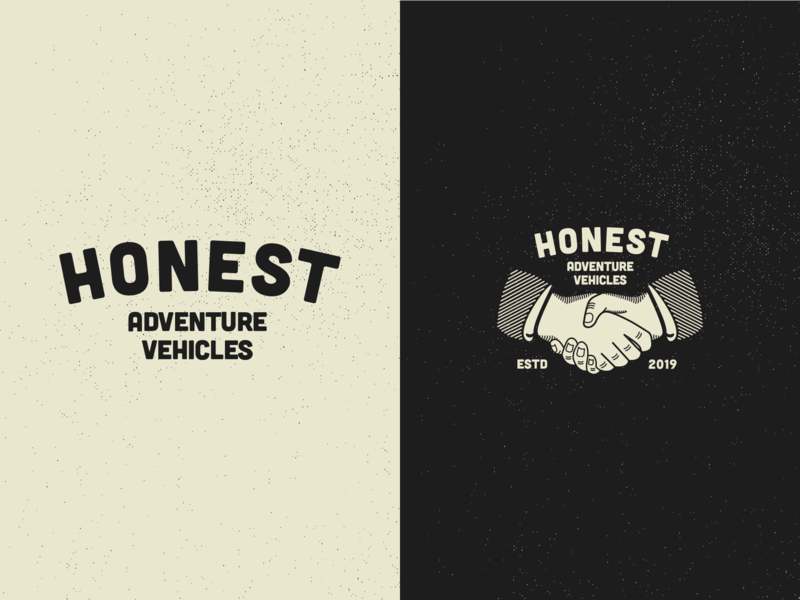 Honest ~ Logo Spread vector heritage web developer adventure icon vintage vanlife illustration logo brand minimalism layout ux design web design typography branding design