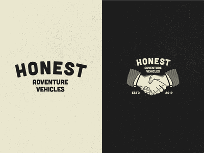 Honest ~ Logo Spread vector heritage web developer adventure icon vintage vanlife illustration logo brand minimalism layout ux design web design typography branding design