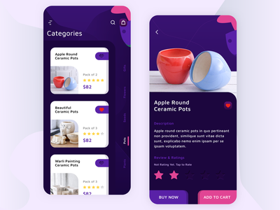 Flower App Screen Color Option plants addtocart categories flower ios android gradient ui uiux branding los angeles design app design uidesign mobile app app mobile wvelabs