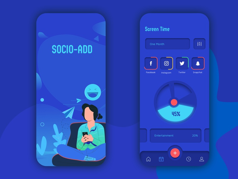Screen Time Management App development screen uiux ui app design illustration app uidesign design