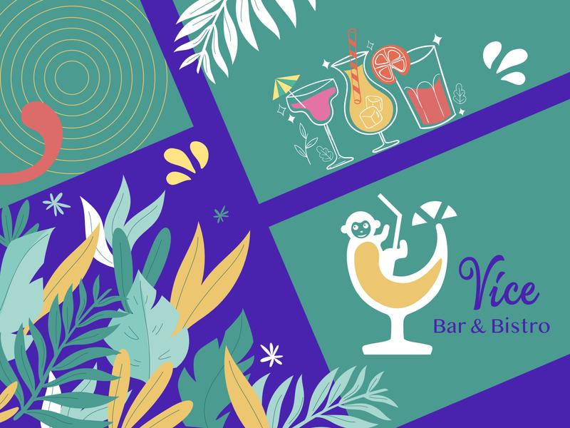 Beach Bar Branding cafe restaurant bar menu website design los angeles illustration ui design branding logo bar beach