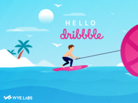 Surfing The Wve with Dribbble