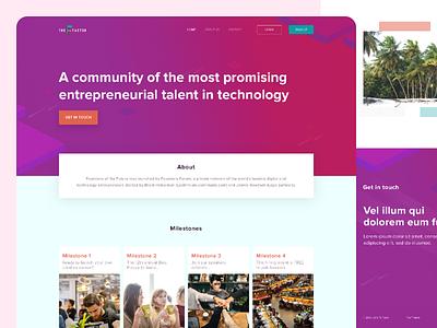 Live Meeting Events Website community uk web desgin design website events meetings enterpreneur
