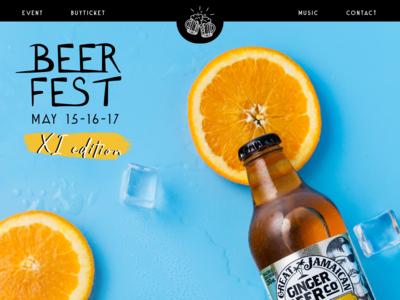 Beer Fest Landing page
