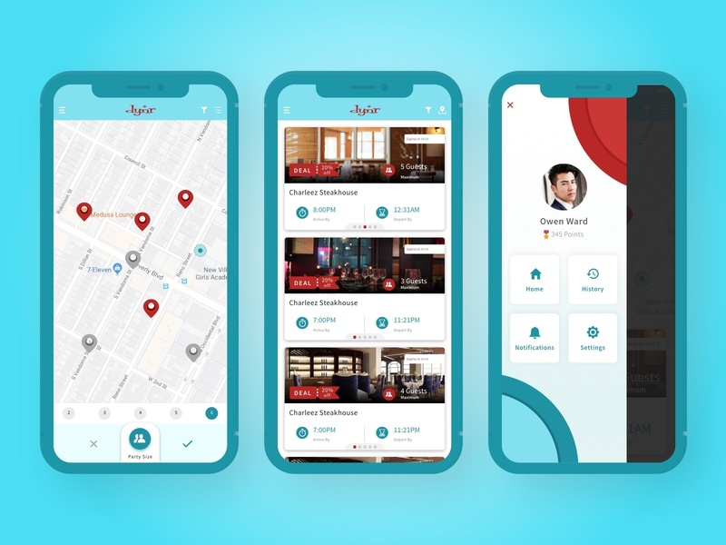 Reservation & Restaurant Review App wvelabs food dine out book table dinning review cyan app design uidesign uiux restaurant reservation
