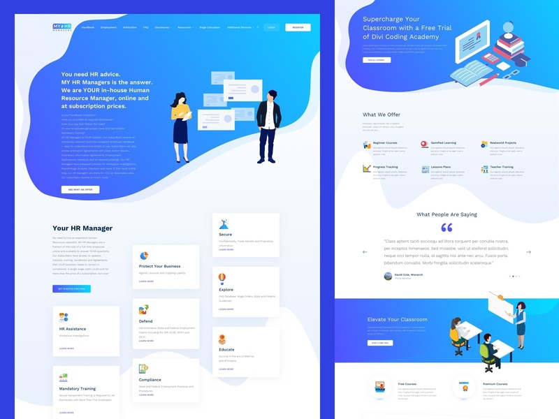 My Hr Manager sketch inhouse online subscription illustration ui gradient los angeles blue design homepage uiuxdesign uidesign website design humanity human rights human resources
