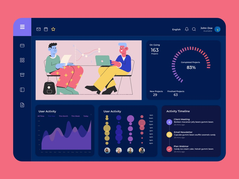 Sales Dashboard Exploration illustration purple los angeles wvelabs monitoring activity data sales management sales dashboard ui  ux uidesign design dark ui dashboard