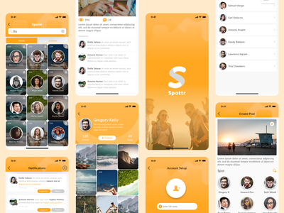 Friend Network Expansion App social social media social network socialmedia social app ui design logo ui uiux app design development ios design los angeles gradient orange wvelabs