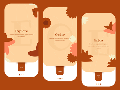 Flower Onboarding Exploration plants flower exploration brown uiscreen appscreen vector illustration uidesign design los angeles ui onboarding wvelabs