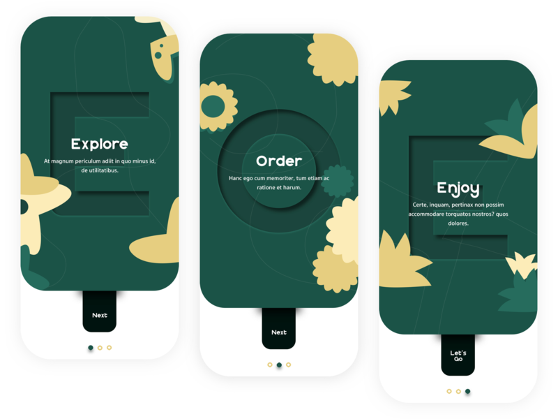 Flower App Onboarding Exploration typography uiux android ios exploration forest green onboarding screen onboarding ui design illustration green flatdesign app design branding uidesign ui mobile appdesign app wvelabs