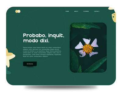 Flower Landing Page exploration forest green wvelabs websites landing page green landing page design landingpage website ux branding vector illustration uidesign los angeles design