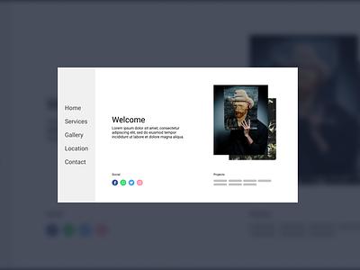 minimal bussiness card ( work in progress ) flat web design ui ux minimal branding clean web design