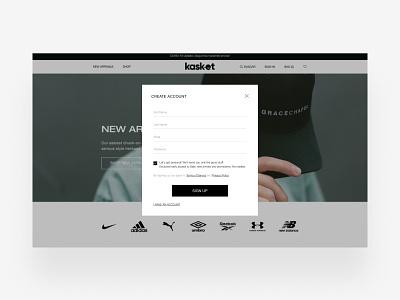 E-commerce - Kasket uiux figmadesign adobexd design ui