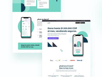 Landing - Servi app layout webdesign branding ux uiux figmadesign adobexd ui