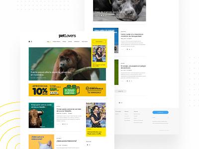 Website - Petlovers Mag dog cat pet content blog magazine layout webdesign ux uiux design ui figmadesign adobexd