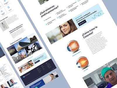 Website - Ophthalmology Clinic ophthalmology ocular eye eyes navy blue care health clinic design ux webdesign uiux figmadesign ui adobexd