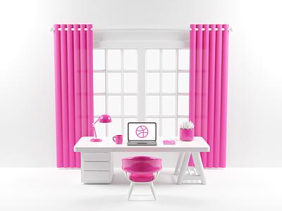 Workspace model render illustration blender3d blender 3d workspace