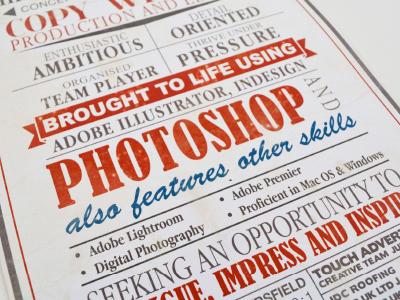 Vintage C.V vintage typography fonts old cv resume print scroll worn poster list layout