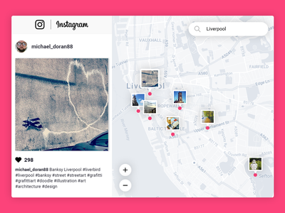 #020 Location Tracker — Daily UI challenge