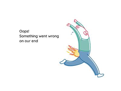 Internal Error - Pants On Fire minimalist simple funny illustration funny error page error help fire llama illustration