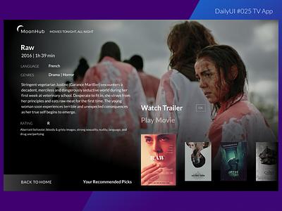DailyUI 025 TV App idk lato design ui playlist movies smart large screen