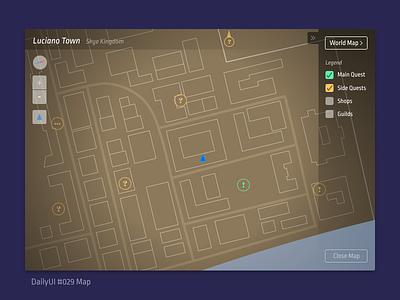 DailyUI 029 Map ropa sans design ui quest rpg simple legend game map dailyui