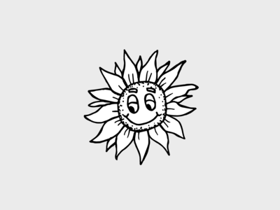 A happy sunflower