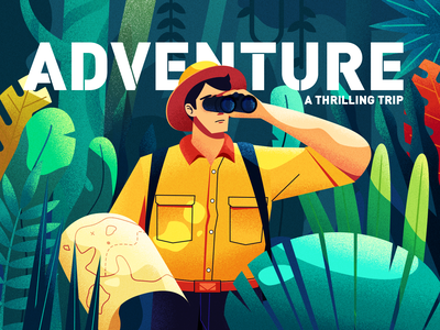 探险家 travel forest branding 矢量 插图