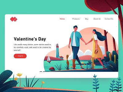 lover 情人 网页 风景 插图