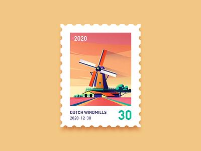 2020年的一张邮票 邮票 风景 插图