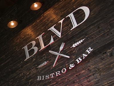 Final BLVD hanging in the BLVD Bistro & Bar, Rego Park, NY