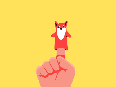 Play fable play character illustration hand fox puppet toy
